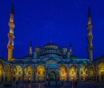 Blue Mosque Turkey Istanbul Mosque Religio