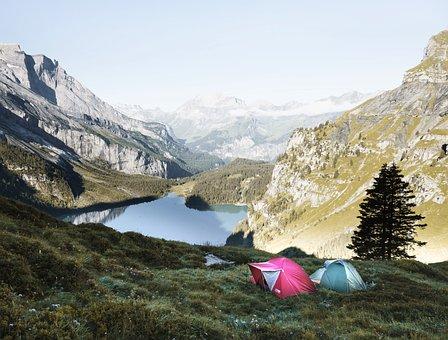 Adventure, Camping, Cliffs, Hike, Lake
