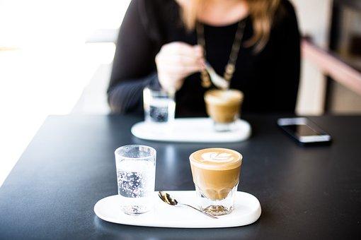 Bar, Restaurant, Coffee, Black Table