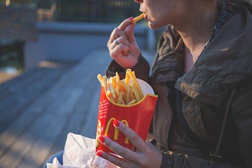 Close-Up, Coat, Eating, Fast Food