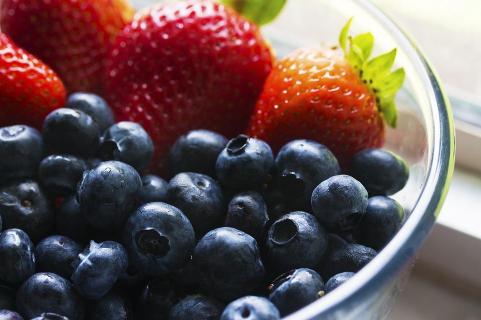 Frutti Di Bosco, Mirtilli, Ciotola, Close Up, Colori