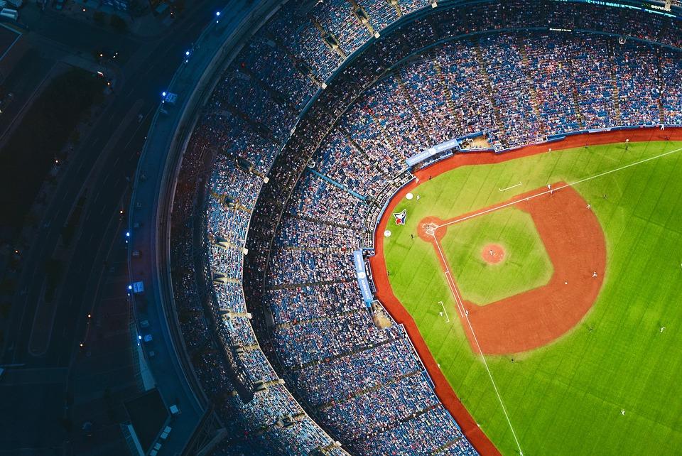 アーキテクチャ, アート, 視聴者, 野球場, 野球, 市, 色, デザイン, フィールド, 楽しい, ゲーム