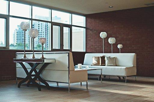 Apartment, Brick Wall, Contemporary