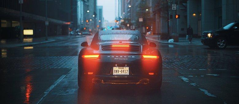 Porsche, Car, Brake Lights, Tail Lights