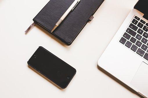 Apple, Computer, Desk, Iphone, Laptop