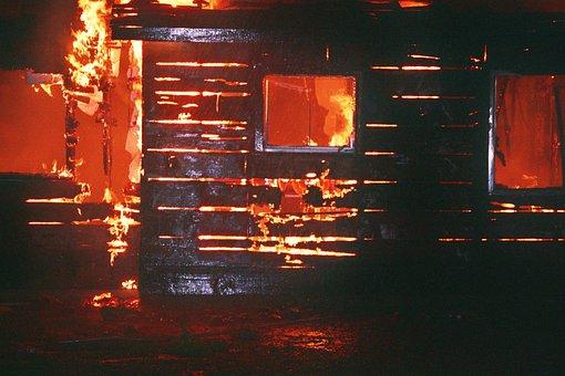 Burn Burning Fire Flames House Burning Fir