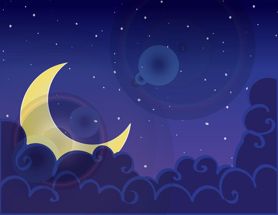 Night, Day, Dusk, Moon, Midnight, Blue, Purple, Light