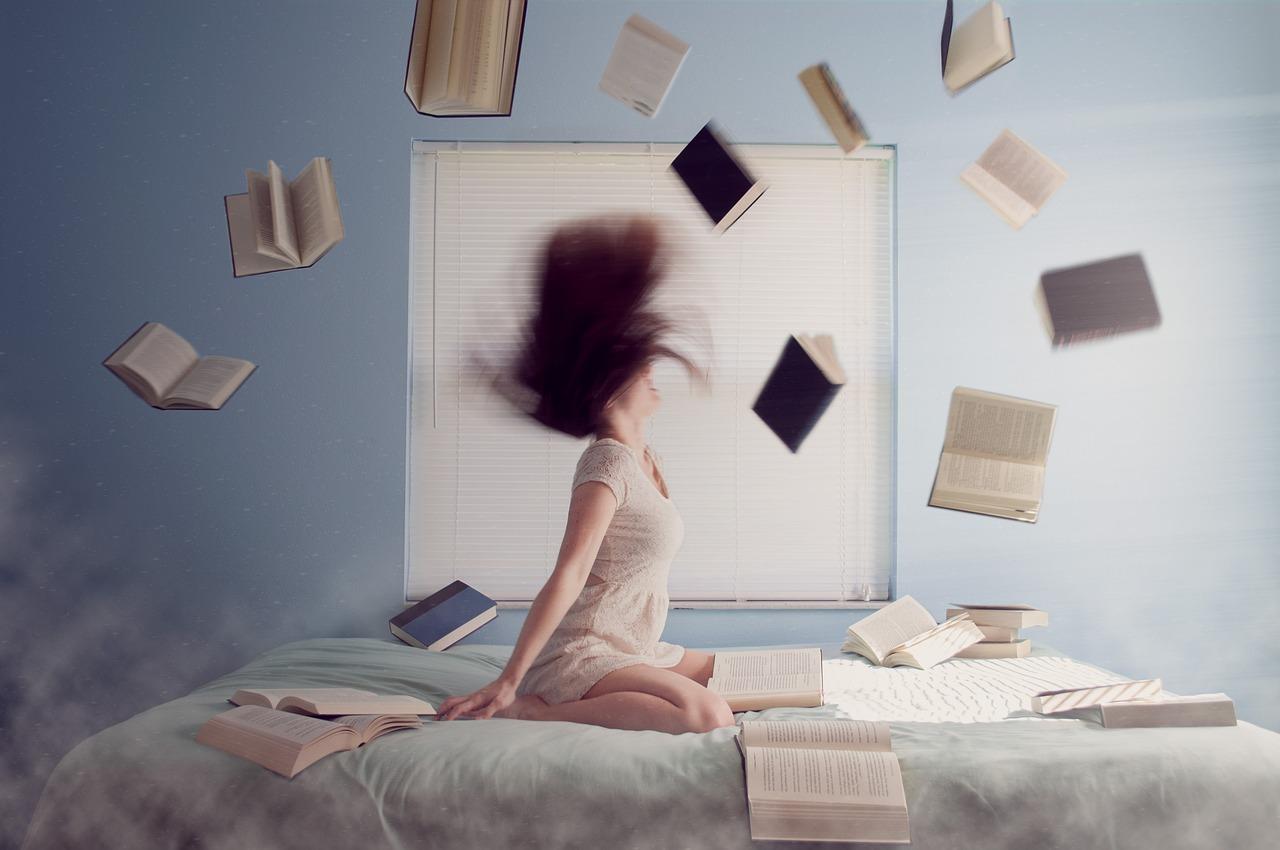 Mulher, Estudando, Aprendizagem, Livros, Leitura
