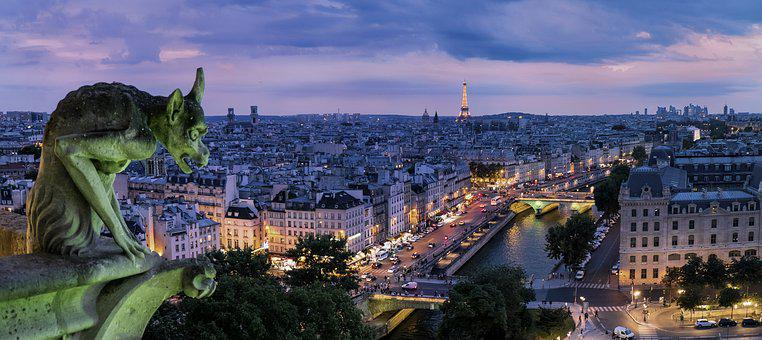Paříž, Chrlič, Francie, Architektura