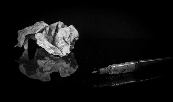 Crumpled Paper Paper Pen Trash Crumpl