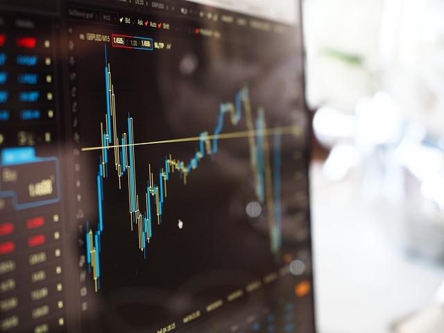 ぼかし, グラフ, コンピュータ, データ, ファイナンス, 成長, 光, 行, 証券取引所, 株式市場