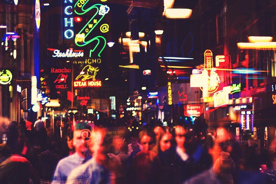 Amsterdam, City, Light, Lights, Neon, Neons, People