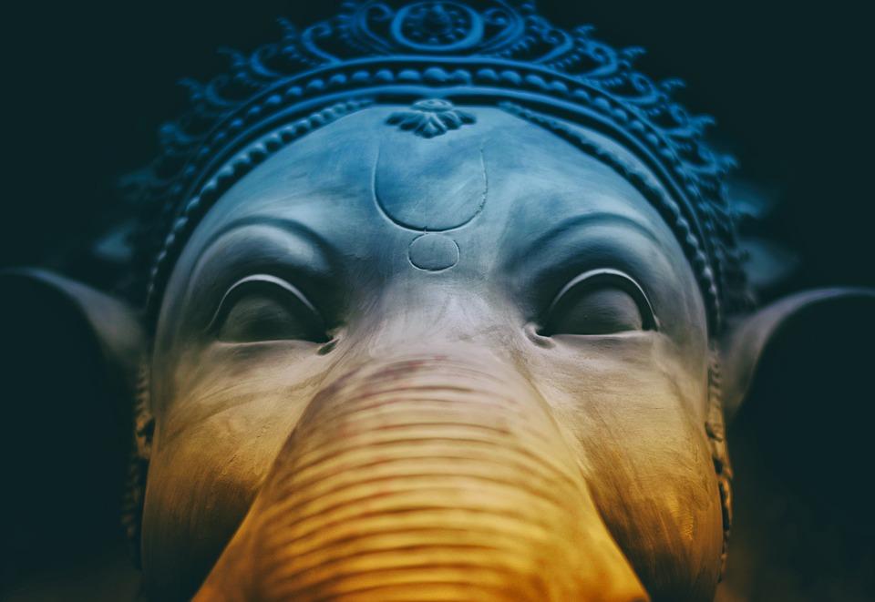 Ganesha, Hindú, Dios, India, Arte, Diosa, Primer Plano