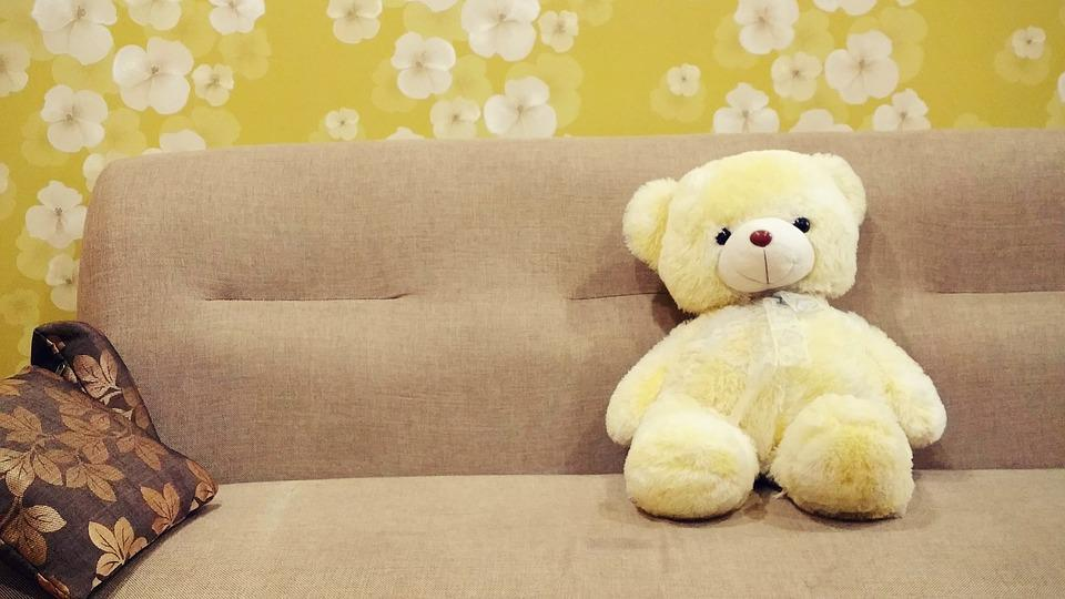 テディベア, おもちゃ, ソファ, 動物のキャストプラ スター, ぬいぐるみのおもちゃ, ぬいぐるみ