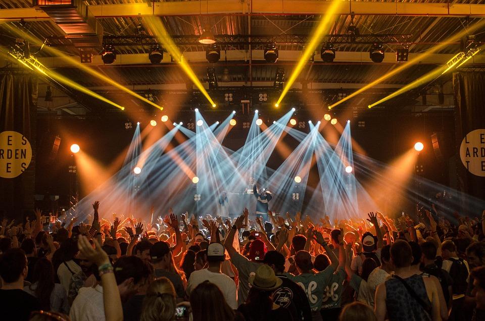 Publiek, Band, Concert, Menigte, Festival, Lichten