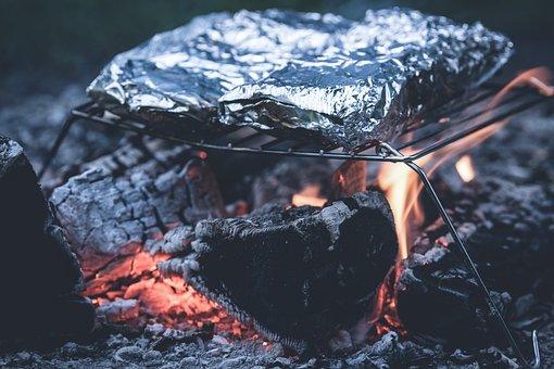 Grill Aluminum Foil Ash Barbecue Charcoal