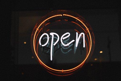 Open, Illuminated, Light, Neon Light