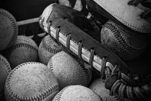 Baseball Games Practice A Black And White