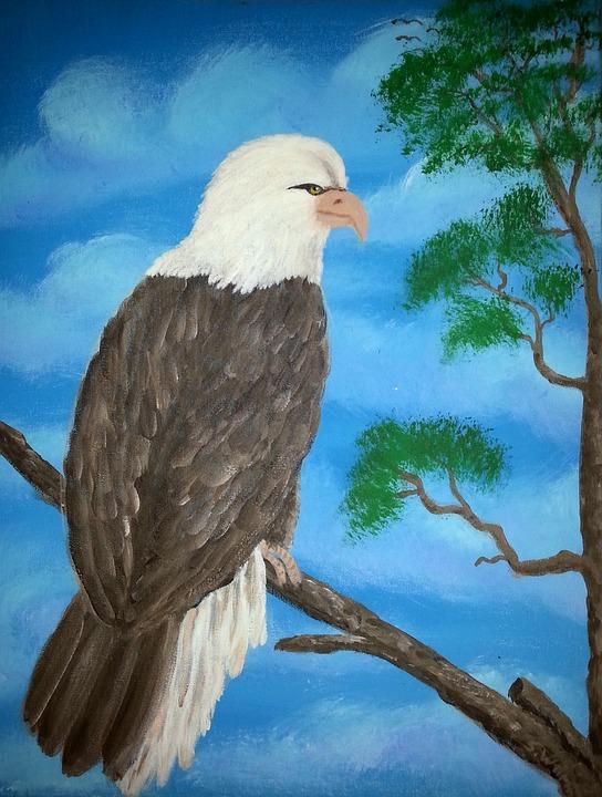 Lukisan Tandu Acrylic Elang Gambar Gratis Di Pixabay