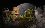 cottage, plants, mushrooms