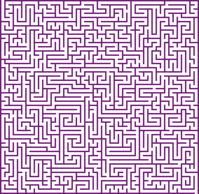 free illustration maze lost confusing puzzle free