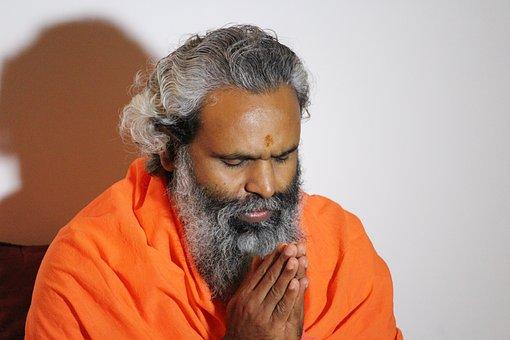 Gebed, Hindu, Swami, Namaste, Meditatie