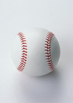 Baseball White Ball Equipment Red Thread B