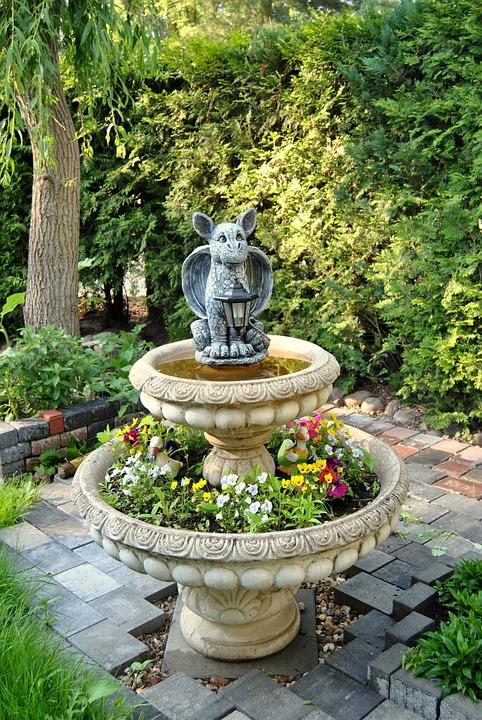 Great Garden, Deco, Sculpture, Fountain