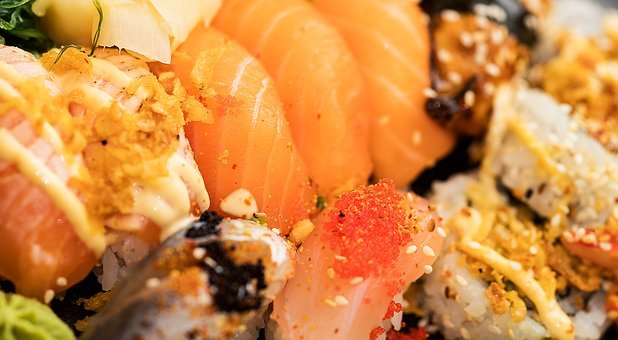 Sushi, Di Bawa, Makanan, Makan