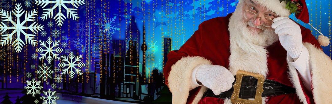 Santa, Christmas, Claus, Winter