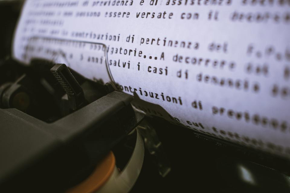 Electronic, Typewriter, Writing, Paper, Retro