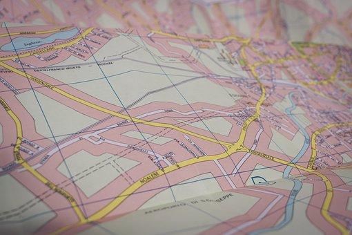 Turísticos, Mapa, Italia, De Viaje