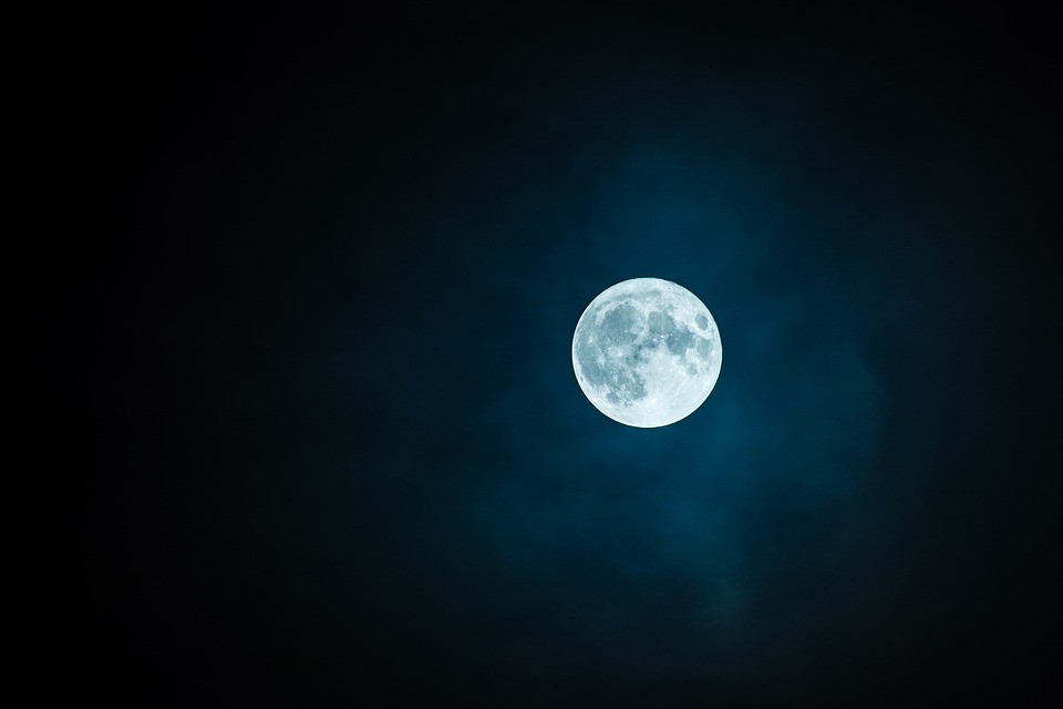 Moon, Full Moon, Sky, Nightsky, Lunar, Moonlight, View