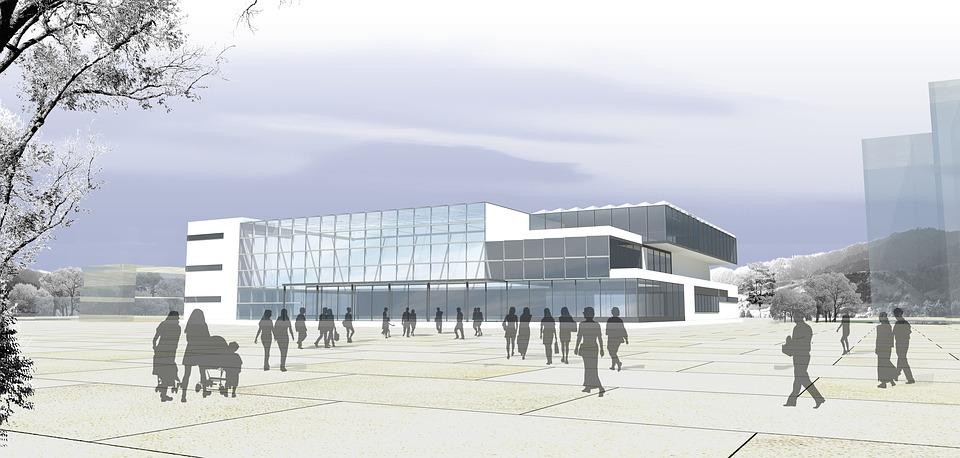 Library Building Design Sketch