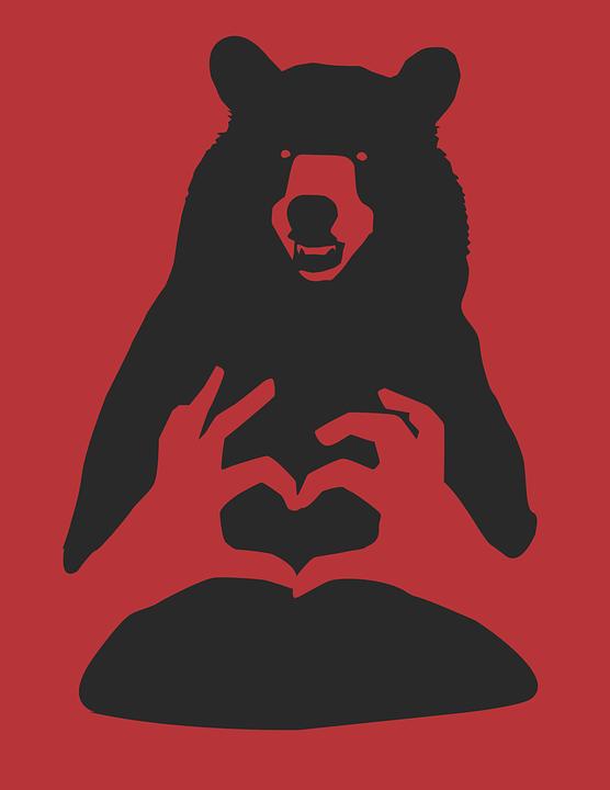 Orso red black cartone grafica vettoriale gratuita su pixabay