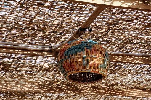 Ceiling Lamp, Orient, Oriental, Bast
