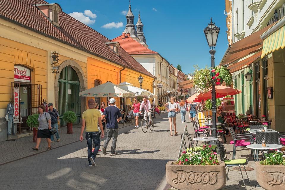 Eger, Węgry, City, Zamek, Pomnik, Panorama, Zobacz