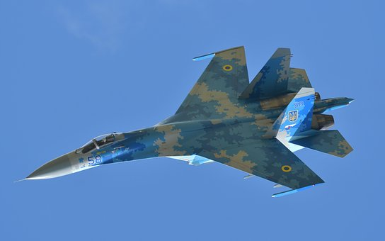 Airplane, Jet, Fighter, Flanker, Airshow