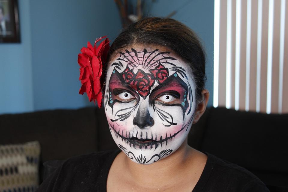 Sugar Skull Schminken Halloween Kostenloses Foto Auf Pixabay
