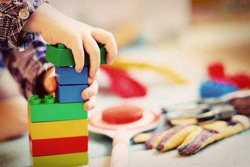子, 塔, ビルディング ブロック, ブロック, 木製のブロック, 幼稚園