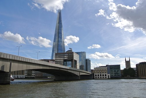 London, Bridge, Shard, River, London