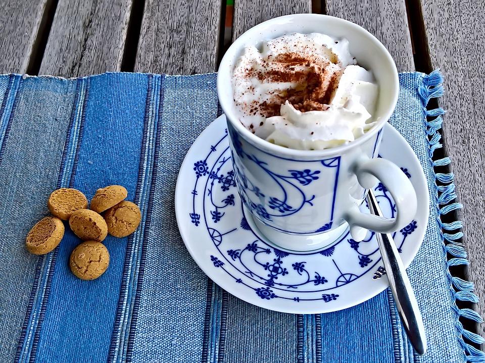 Drink, Cioccolata Calda, Cacao, Con Panna Montata