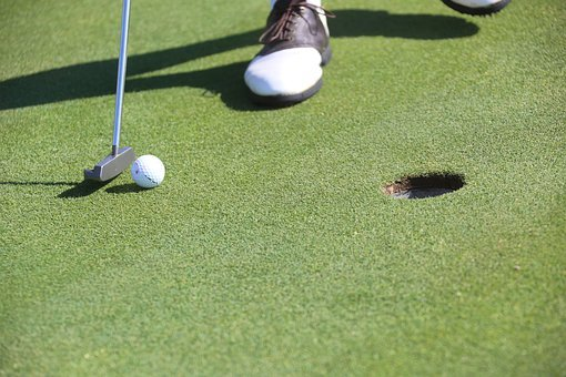 Golf, Putting, Hole, Golf Ball, Golfer