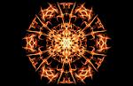 pentagram, fire, magic