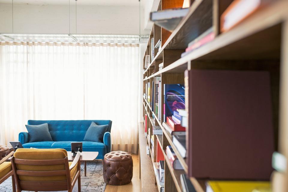 Размазване, Библиотека, Книги, Цветове, Съвременен