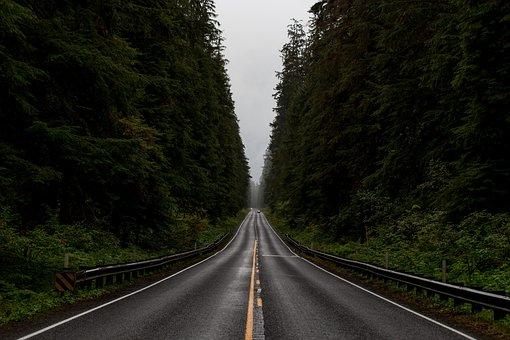 Asphalt, Highway, Landscape, Mountain