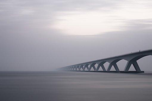 Arches, Bridge, Concrete Structure, Dawn