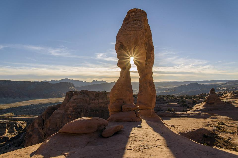Arid, Delicate Arch, Arches National Park, Barren