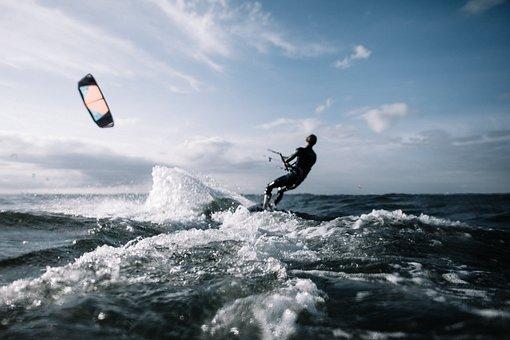 Action, Kite Surfing, Kiting, Adventure