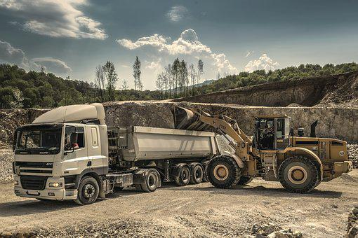 Drive, Digger, Excavator, Engine, Heavy